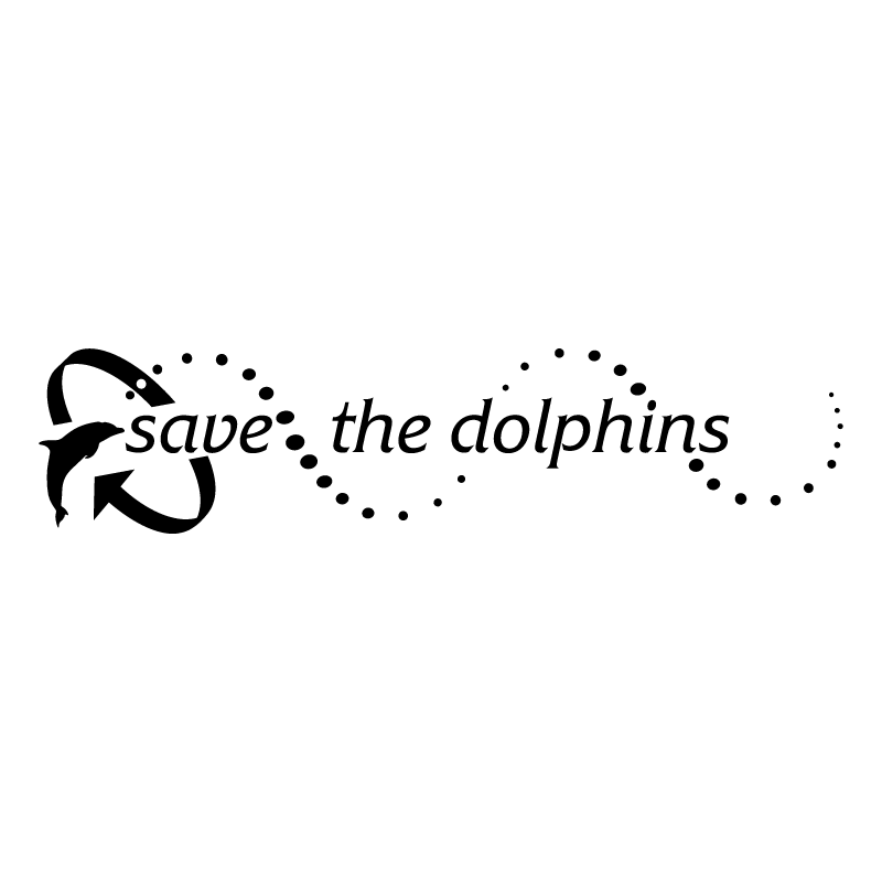 Save the dolphins vector logo