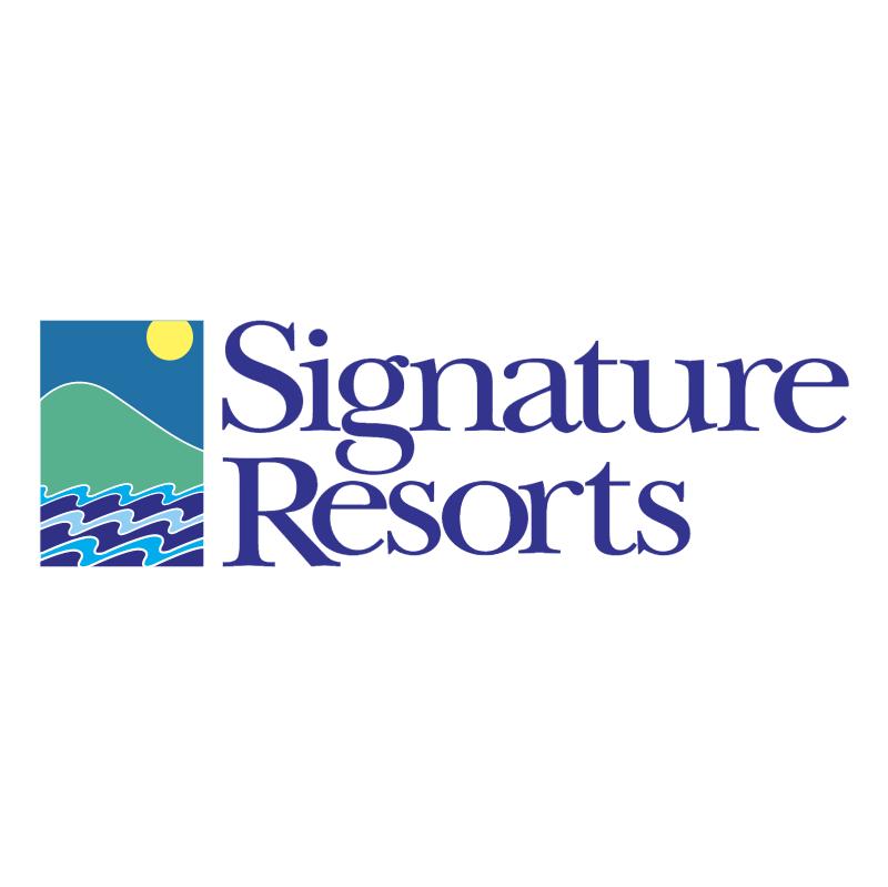 Signature Resorts vector