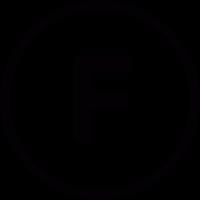 F inside a circle vector