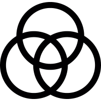 Borromean rings vector
