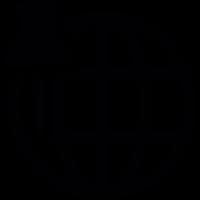 Push pin and circular grid vector