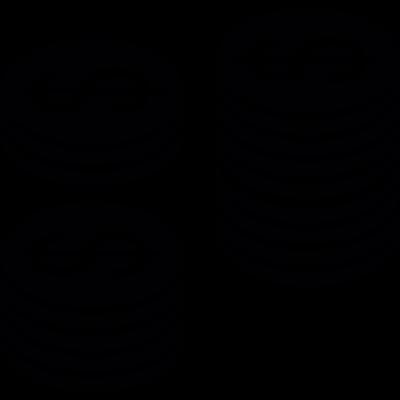 Money coins stacks vector logo
