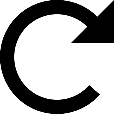 Rotating curve arrow to the right vector logo
