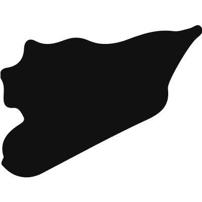 Syria black country map shape vector logo