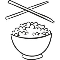 Chinese Rice with two Chopsticks vector
