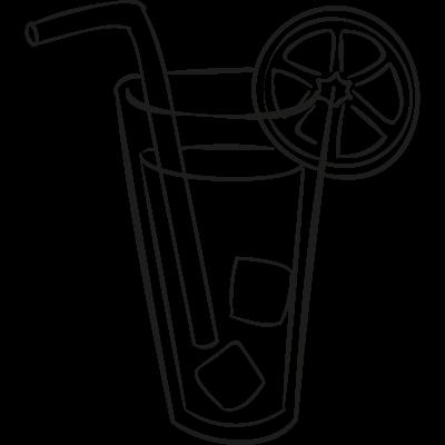 Lemonade with Straw vector logo