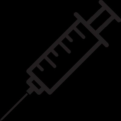 Injecting Syringe vector logo