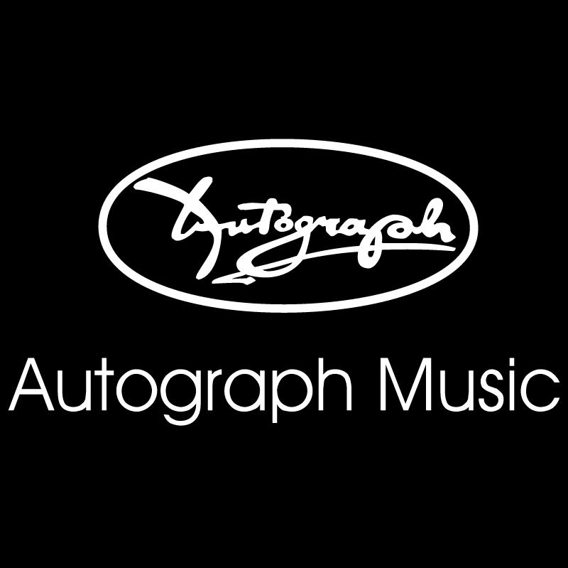 Autograph Music vector