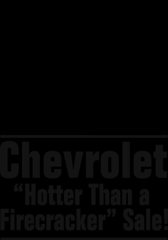 Chevrolet Firecracker Sale vector