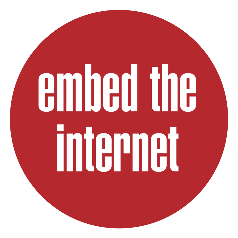 Embed The Internet vector