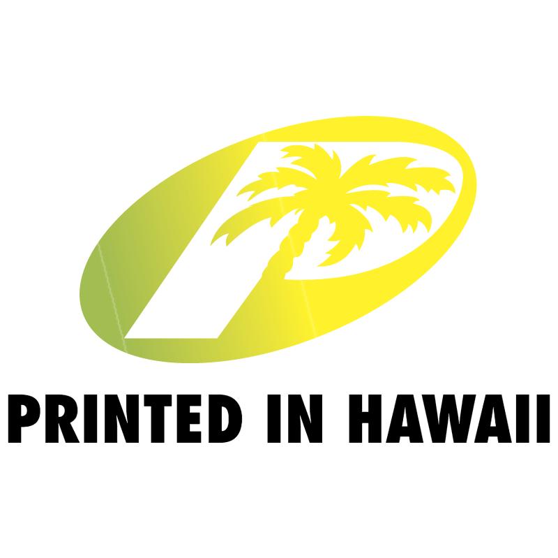 Printed In Hawaii vector logo