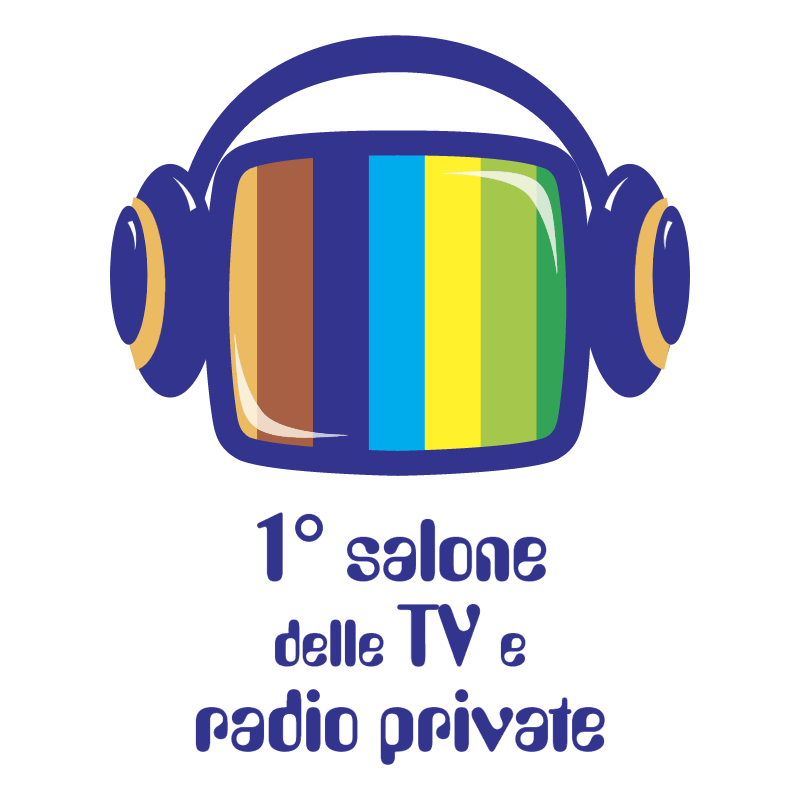 1 salone delle TV e radio private vector