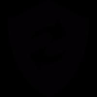 Refresh arrows in a shield vector
