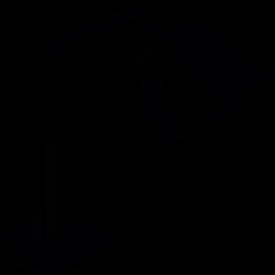 Table lamp vector logo