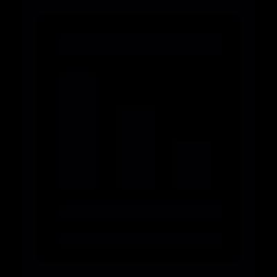 Bar chart file vector logo