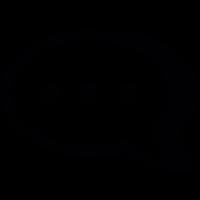 three dots in a speech bubble vector