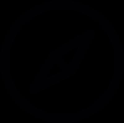 Compass button vector logo