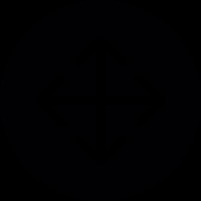 Move Object Circular Button vector logo