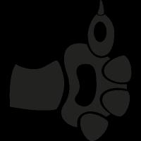Cat paw like symbol vector