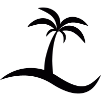 Island with a palm tree vector