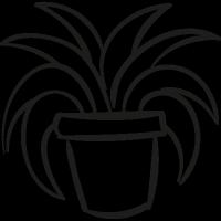 Garden Plant In a Pot vector
