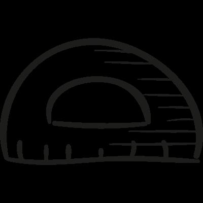 Protractor vector logo