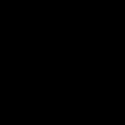 Laptop message vector logo