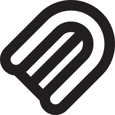 Inflatable boat top view vector logo