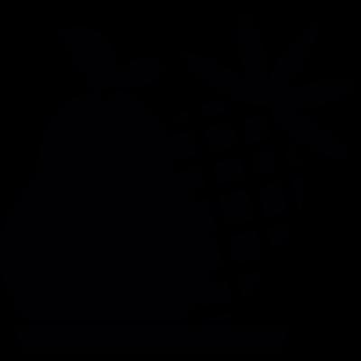 Fruits silhouette vector logo