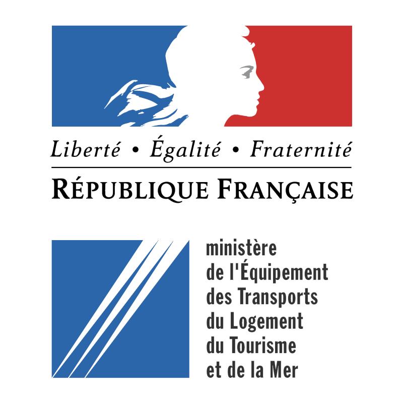 Ministere de l'Equipment des Transport du Logement du Tourisme et de la Mer vector