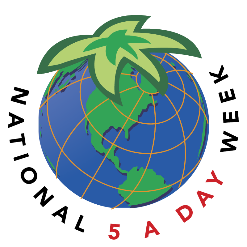 National 5 A Day Week vector