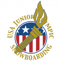 USA Junior Olympic Snowboarding vector