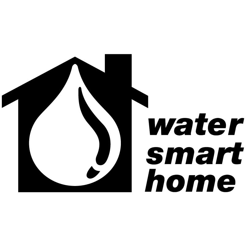 Water Smart Home vector logo