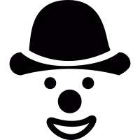 Face of clown with hat vector