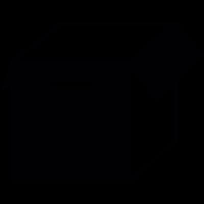 Open storage box vector logo