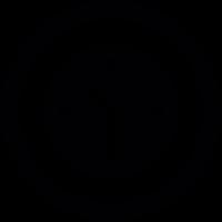 Round wall clock vector