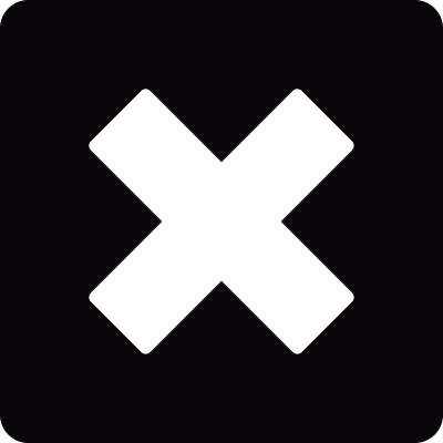 Square remove button vector logo