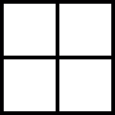 Thin window frame vector logo