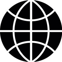 World wide black symbol vector