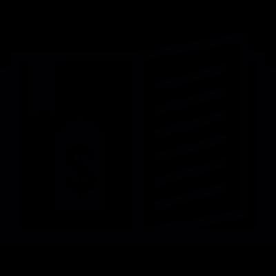 Shopping guide vector logo