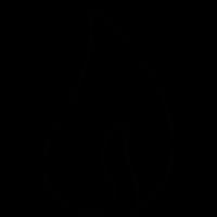 Fire flame, IOS 7 interface symbol vector