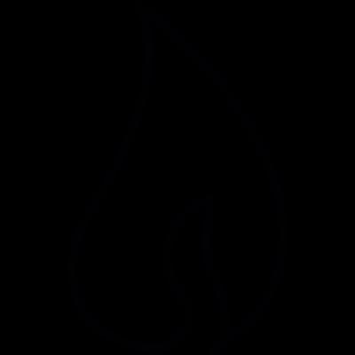 Fire flame, IOS 7 interface symbol vector logo