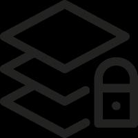 Layers Lock vector