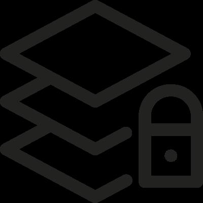 Layers Lock vector logo