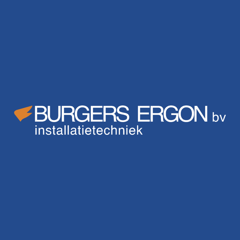 Burgers Ergon Installatietechniek vector
