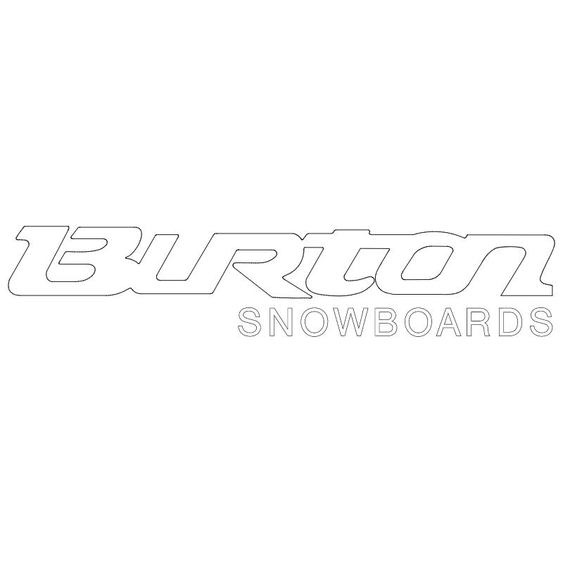 Burton Snowboards 1001 vector
