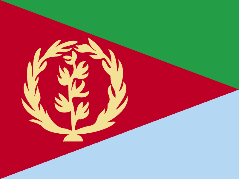 Flag of Eritrea vector