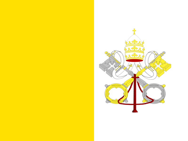 Flag of Holy See vector