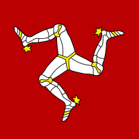 Flag of Isle of Man vector