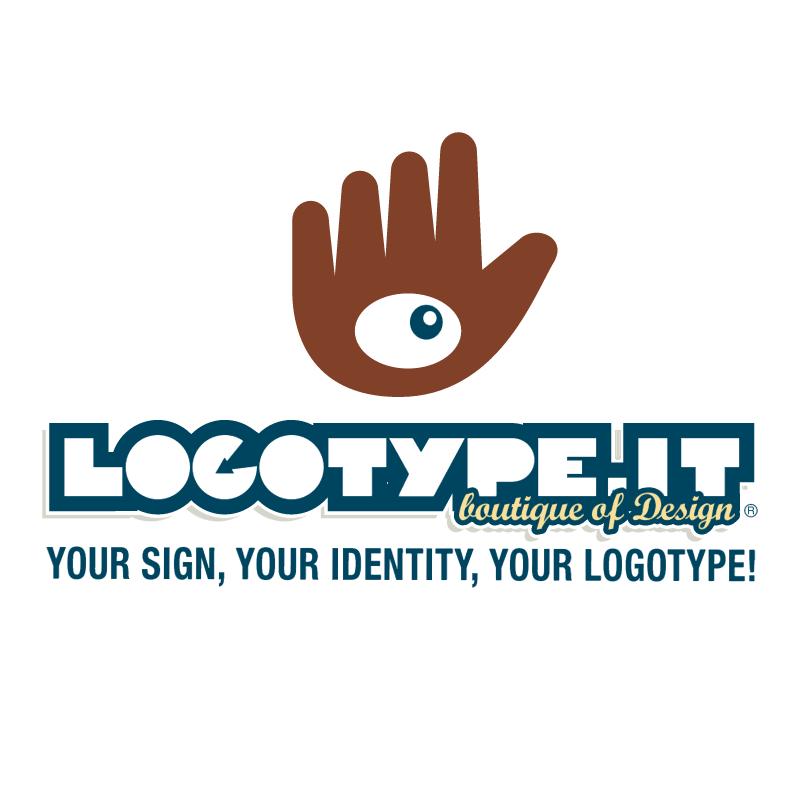 Logotype it vector